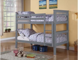 Titus Furniture Twin over Twin Bunk Bed in Grey T2500G