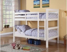Titus Furniture Twin over Twin Bunk Bed in White T2500W