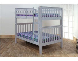 Titus Furniture Full over Full Bunk Bed in Grey T2502G
