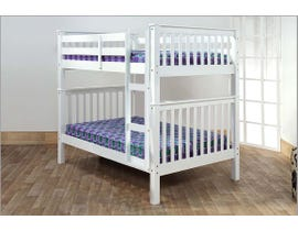 Titus Furniture Full over Full Bunk Bed in White T2502W