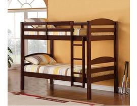Titus Furniture Twin over Twin Bunk Bed in Espresso T2508E