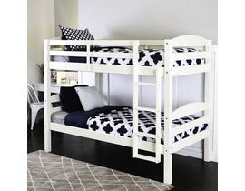 Titus Furniture Twin over Twin Bunk Bed in White T2508W