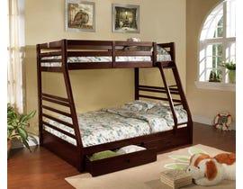 Titus Furniture Twin over Full Bunk Bed in Espresso T2700E