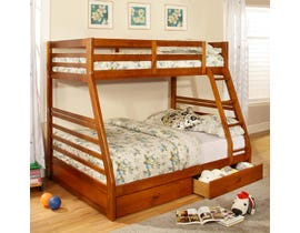 Titus Furniture Twin over Full Bunk Bed in Honey T2700H