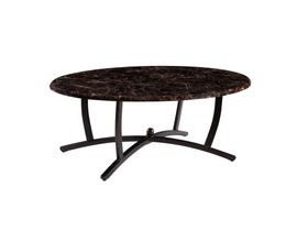Global Furniture faux marble top coffee table in black T270C