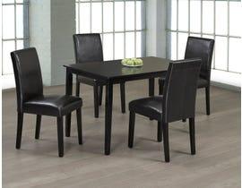 Titus Furniture 5pc Dining Set in Espresso Finish T3106/248E-SET