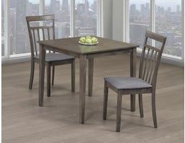 Titus Furniture 3pc Dining Set in Grey Finish T3115-SET