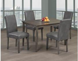 Titus Furniture 5pc Dining Set in Grey Finish T3116/248G-SET
