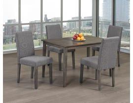 Titus Furniture 5pc Dining Set in Grey Finish T3116/249-SET