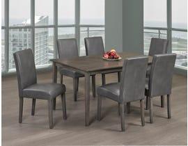 Titus Furniture 7pc Dining Set in Grey Finish T3117/248G-SET