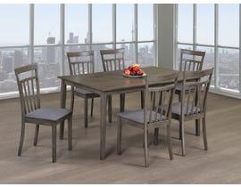 Titus Furniture 7pc Dining Set in Grey Finish T3117-SET