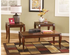 Betty 3 Pck Coffee Table Set in Brown