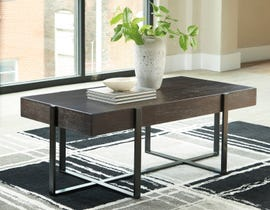 Signature Design by Ashley Drewing Cocktail Table in Dark Brown & White T321-1