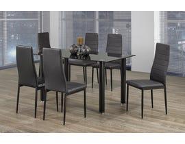 Titus Furniture 7pc Dining Set in Black T3407-SET