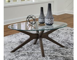 Signature Design by Ashley Zannory Cocktail Table in Greyish Brown T348-0