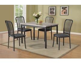 Titus Furniture Dining Set in Grey Finish T3721-SET