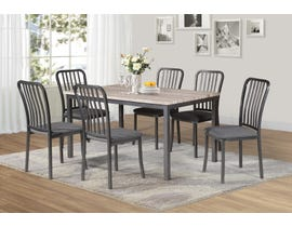 Titus Furniture Dining Table in Grey Finish T3722-SET