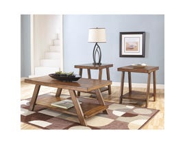 Signature Design by Ashley Bradley Series Occasional Table Set in Burnished Brown T392-13