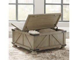 Signature Design by Ashley Aldwin Storage Cocktail Table in Weathered Grey T457-20
