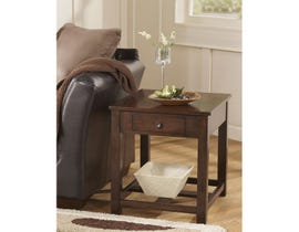 Signature Design by Ashley Marion wood Rectangular End Table in brown T477-3