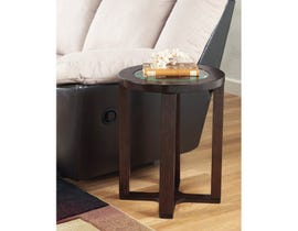 Signature Design by Ashley Marion wood Round End Table in brown T477-6