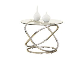 Titus Furniture Round End Table in Chrome T5018-E