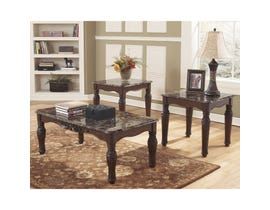 Signature Design by Ashley North Shore Series Occasional Table Set in dark brown T533-13
