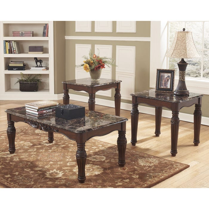 Occasional Table Set Ashley North Shore T533 13 Lastmans Bad Boy