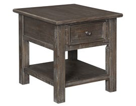 Signature Design by Ashley Wyndahl Series Rectangular End Table in Rustic Brown T648-3