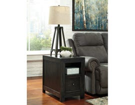 Signature Design by Ashley Gavelston wood Chair Side End Table in brown T752-7