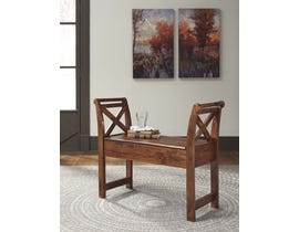 Signature Design by Ashley Abbonto Collection Accent Bench in Warm Brown T800-111