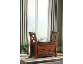 Signature Design by Ashley Abbonto Collection Bench in Warm Brown T800-112