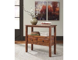 Signature Design by Ashley Abbonto Series Accent Table in Warm Brown T800-124