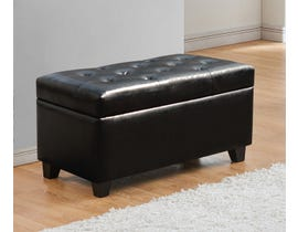 Titus Furniture Upholstered Leatherette Storage Bench in Black T826-BL