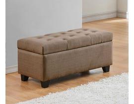 Titus Furniture Upholstered Linen Storage Bench in Medium Brown T826-BR