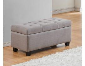 Titus Furniture Upholstered Linen Storage Bench in Grey T826-GR