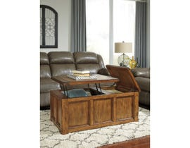 Signature Design by Ashley Tamonie Rect Lift Top wooden Cocktail Table in brown T830-9