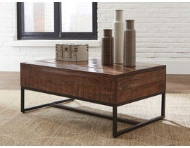Signature Design by Ashley Hirvanton Lift Top Cocktail Table in Warm Brown T842-9