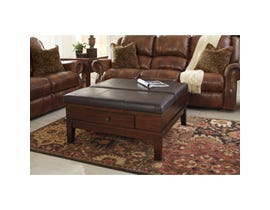 Signature Design by Ashley Gately padded wood Ottoman Cocktail Table in brown T845-21