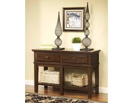 Signature Design by Ashley Gately Series Console Sofa Table in Medium Brown T845-4
