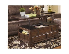 Signature Design by Ashley Gately wooden Lift Top Cocktail Table in brown T845-9