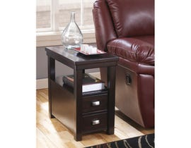 Signature Design by Ashley Hatsuko wood Chair Side End Table in dark brown T864-7