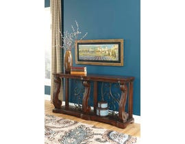 Signature Design by Ashley Alymere Series Sofa Table in Rustic Brown T869-4
