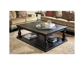 Signature Design by Ashley Mallacar wooden Rectangular Cocktail Table in dark brown T880-1