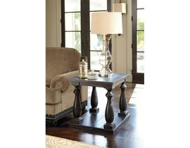 Signature Design by Ashley Mallacar wood Rectangular End Table in black T880-3