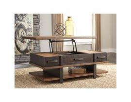 Signature Design by Ashley Stanah wooden Lift Top Cocktail Table in brown T892-9