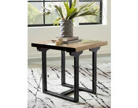 Signature Design by Ashley Calkosa Series Rectangular End Table in Brown/Black T894-3
