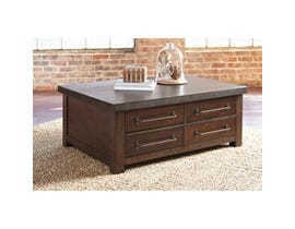 Signature Design by Ashley Starmore wooden Cocktail Table in brown with Storage T913-20