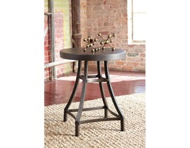 Signature Design by Ashley Starmore wood and metal Round End Table in brown T913-6