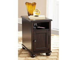 Signature Design by Ashley Barilanni wood Chair Side End Table in brown T934-7